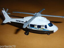 2013 Matchbox Mission Force Crime Crew RESCUE HELICOPTER POLICE Loose WHITE