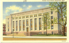 OLD POST CARD USA ETATS-UNIS KALAMAZOO MICH COUNTY COURT HOUSE