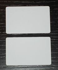 50 Blank PVC Plastic Photo ID White Credit Card 30Mil