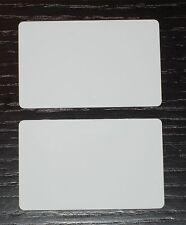 50 Blank PVC Plastic Photo ID White Credit Card 30Mil