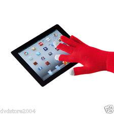 GUANTI ROSSI TOUCH SCREEN SMARTPHONE per iPhone iPad Samsung Nokia Lg Htc Huawei