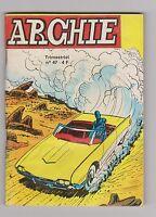 ARCHIE n°47 - Le merveilleux robot. 1979. petit format en TBE