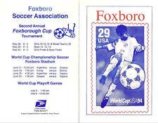 #2834-6-C? Foxboro FD Program 29c/50c World Cup Stamp w/FDC