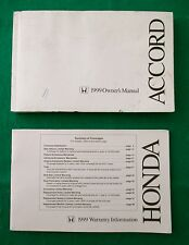 1999 99 Honda Accord Coupe Owners Manual inside pages Near New, E35G
