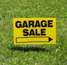 """""""Garage Sale """" Signs 3 Sign Set 12""""X18"""" With Stakes"""
