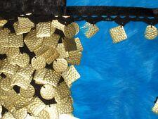 "10 yards 1"" width with gold tone metal on crochet black ribbon fringe trim"