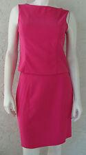Womens AQUA BLUES Bright Pink Sleeveless Top & Short Skirt Set Stretch Sz 11 Jr.