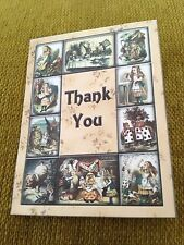 Alice In Wonderland Mini ' Thank you Cards'.Birthday/wedding Party Decorations