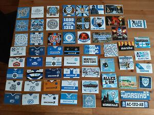 Lot 20 stickers OM Olympique de Marseille différents