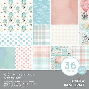 Kaisercraft - 6 1/2'' Paper Pad - Little Treasures - PP1088