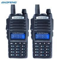 2PCS Baofeng UV-82 Dual Band Two-Way Radio Walkie 136-174MHz VHF 400-520MHz UHF
