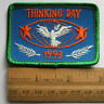 Vintage Girl Scout 1993 THINKING DAY PATCH World Friendship Celebration Dove NEW