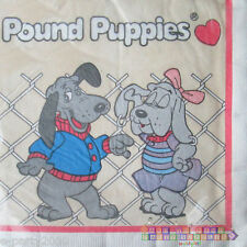 POUND PUPPIES LUNCH NAPKINS (16) ~ Vintage Birthday Party Supplies Large Dinner