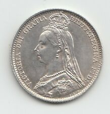 More details for very rare 1893 queen victoria jubilee head sixpence 6d