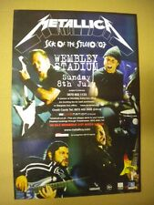 METALLICA WEMBLEY STADIUM POSTER ADVERT (KERRANG) CM 28 X CM 42