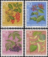 Switzerland 1976 Fruit/Flowers/Trees/Plants/Nature/Welfare Fund 4v set (ch1045)
