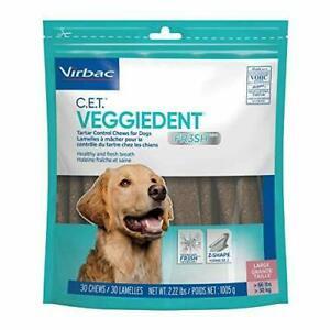 CET VeggieDent FR3SH Tartar Control Chews for Dogs - Large