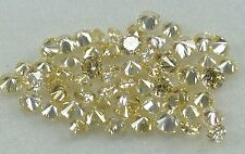 Natural Loose Diamond Cut Round Shape Yellow Orange Color VS-SI, 11 Pcs Lot