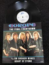 "Europe - The Final Countdown / On Broken Wings / Heart Of Stone 12"" Vinyl TA7127"