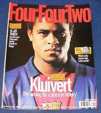 FOURFOURTWO MAGAZINE JANUARY 2001 - PATRICK KLUIVERT/DENIS IRWIN