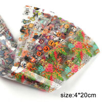 Halloween Nail Foil Stickers Transfer Decals Paper Christmas Nail Art Decoration