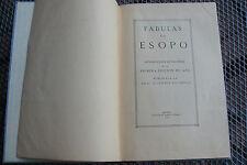 Fabeln des Äsop - Fábulas de Esopo Madrid 1929 - Reproducción de Edición 1489