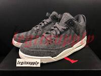 Nike Air Jordan 3 III Retro Wool 4Y-13 Dark Grey Sail White 854263-004 True Blue