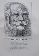 Belloguet SEINE HEILIGKEIT WILHELM DER SCHLÄCHTER Karikatur um 1907 Druck
