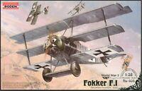 RODEN 1/32 FOKKER F.1 Triplane prototype 605 WWI plastic model fighter kit