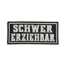 Bügel Aufnäher Schwer Erziehbar Biker patch kutte motorrad fuck oi club bike