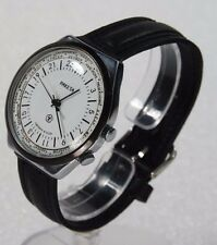 """NEW OLD STOCK Russian watch """"The Raketa"""" 24 hour dial. Time zone design. WHITE"""