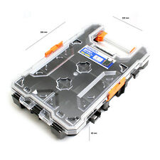 Portable Nail Screws Storage Case Compartment Tool Box Case Clear Plastic SM-MB5