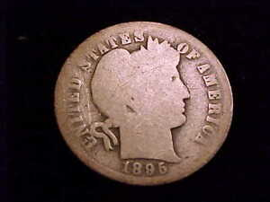 1895-O Barber Dime, About Good Grade.  A tough date for sure!!