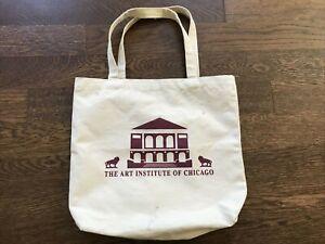 Vintage Art Institute of Chicago Museum Canvas Tote Bag