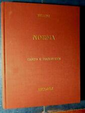 V.Bellini. NORMA, Spartito canto-piano e libretto. Ricordi 2001