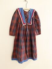 Vintage Ruth Of Carolina Plaid Girls Dress Size 6x