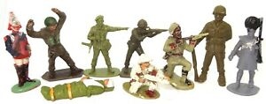 BRITAINS, AIRFIX, LONESTAR ETC - 9 ASSORTED SOLDIERS