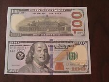 100 PIECES OF $100 DOLLAR PRANK / PROP MONEY NEW STYLE NO SHINE OR GLOSS!