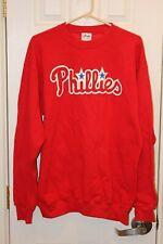 red Philadelphia Phillies pullover / crew-neck sweatshirt - adult large / L