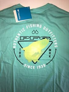 Columbia New PFG Fishing Gear Frank Short Sleeve Graphic T-Shirt Men's Medium