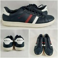 Ben Sherman Mens Shoes Low Casual Sneakers Blue LeatherLace Up Lifestyle Size 10