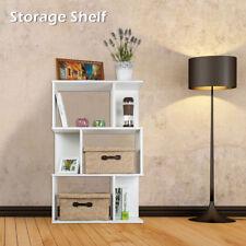 3 Tiers 6 Cubes Display Shelf Storage Bookshelf Bookcase Stand Rack Units White