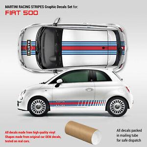 Martini Racing stripes Graphics set for Fiat 500
