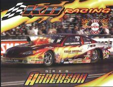2003 Greg Anderson KB Racing Pontiac Grand Am Pro Stock NHRA postcard