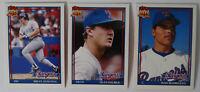 1991 Topps Traded Texas Rangers Team Set of 3 Baseball Cards
