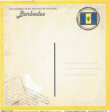 Sc - Barbados Postcard Scrapbooking Paper - 1 sheet - Vintage 36423