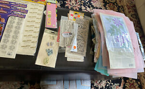 Huge Craft lot Over 175 stencils, Stickers scrapbooking Etc Many New