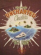 "Get Lost in The South Pacific Islands ""Uncharted"" Boats Souvenir Soft T Shirt S"