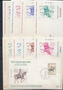 XC76212 Belgium 1973 stamp day postman on horse FDC's used