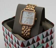 NEW AUTHENTIC FOSSIL MICAH ROSE GOLD CRYSTALS SQUARE MOP WOMEN'S ES4269 WATCH